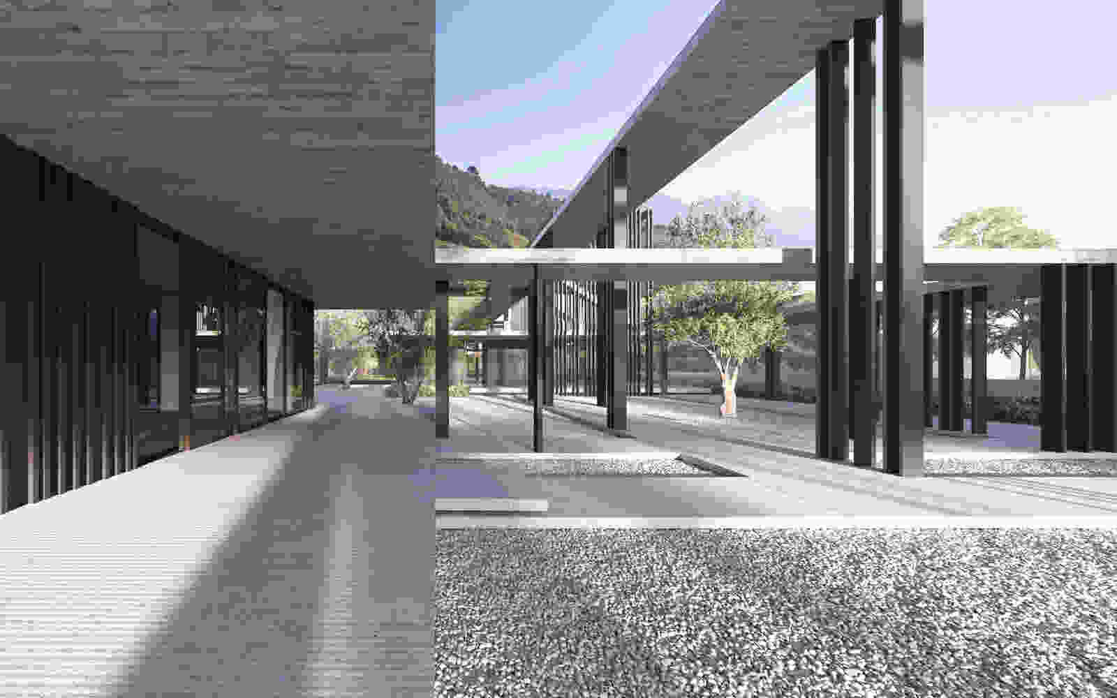 397 ANTONIANUM meran courtyard dm vis 002 concrete